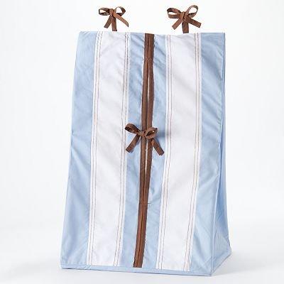 Bacati - Metro Blue/Chocolate Diaper Stacker
