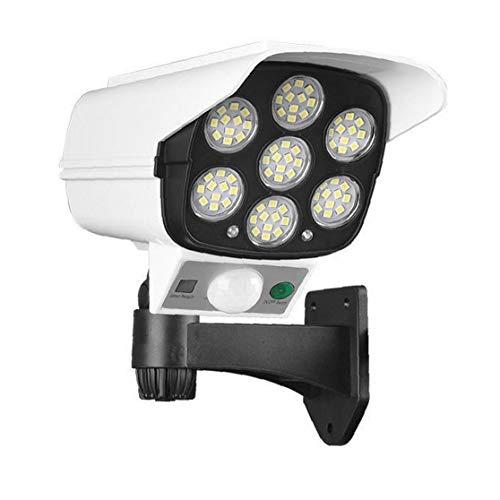 IUwnHceE Luz Solar de la cámara simulada luz Solar 2 en 1 LED de la cámara del Sensor Solar de Pared de luz Seguridad para el Hogar para Interior al Aire Libre