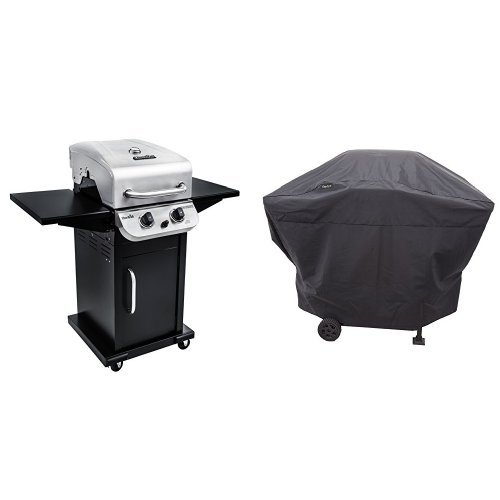 Char-Broil Performance 300 2-Burner Cabinet Gas Grill- Stainless Performance Grill Cover, 2 Burner: Medium