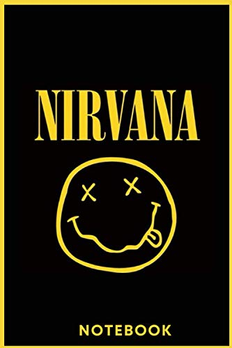 NIRVANA Journal -Rock & Roll Lined notebook Perfect Christmas or Birthday Gift: Diary Gift 110 Blank Pages - 6x9 inches Matte Cover