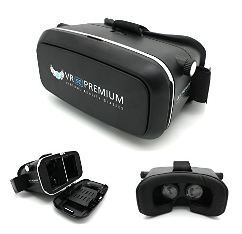 VR90 Premium Virtual Reality Glasses Video 3D VR Brille Einstellbar / 360° Panorama Filme Spiele für 3.5-6.0 Zoll Smartphones