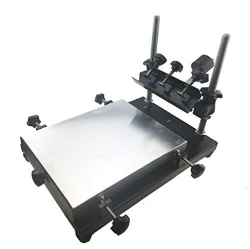 CGOLDENWALL Mesa de Serigrafía SMT/SMD Set de Serigrafía Manual Herramientas de Impresión con Placa de Aluminio & Martillo de Equilibrio (32 * 22cm)