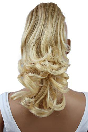 PRETTYSHOP 30cm Haarteil Zopf Pferdeschwanz Haarverlängerung Voluminös Gewellt Blond Mix H91