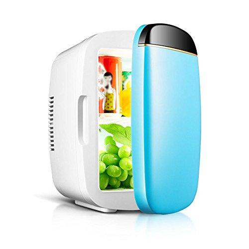 Li@ 6L Voiture boîte Froide Mini frigo Voiture Double Usage Eau réfrigérée Boisson dortoir Portable réfrigérateur (Couleur : Bleu)