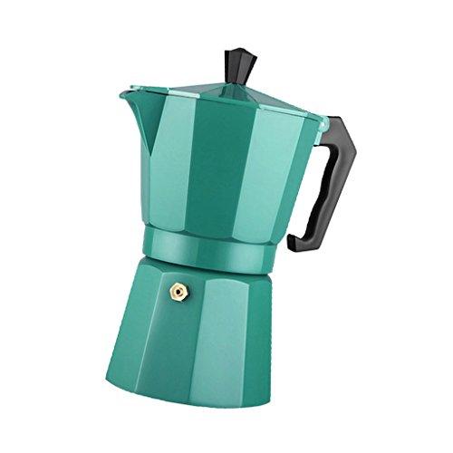 Baoblaze Estufa de Aluminio Cafetera Espresso Cafetera Moka Latte 2/4/6/9/12 Taza - Verde, Individual