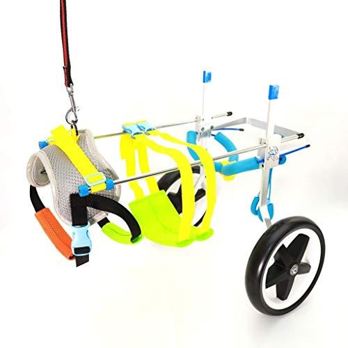 Perro silla de ruedas - for la mayoría de los perros 1-50 kg ajustable - Soporte trasero con silla de ruedas - for el perro de animal doméstico / del gato silla de ruedas de rehabilitación pata traser