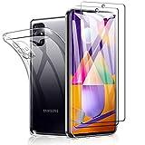 SHINEZONE Panzerglas Schutzfolie für Samsung Galaxy M31s, [2 Stück+Hülle] 9H Härte Transparent Klar Display Glas Schutzfolie,Anti-Kratzer Staub Displayfolie Panzerglasfolie für Samsung Galaxy M31s