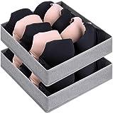 DIMJ 2 cajas de almacenamiento plegables de 5 celdas, organizador de ropa...