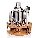 Cocktail Shaker Set,Esmula 750ML Edelstahl Barkeeper Kit Professionelles Martini Mixing Bartending Kit Kombination, Home Stylish Bar Tool Set mit Cocktail Rezeptheft