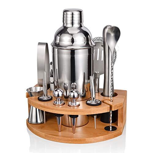 Cocktail Shaker Set,750ML RVS Bartender Kit Professionele Martini Mixing Bartending Kit Combinatie, Thuis Stijlvolle Bar…