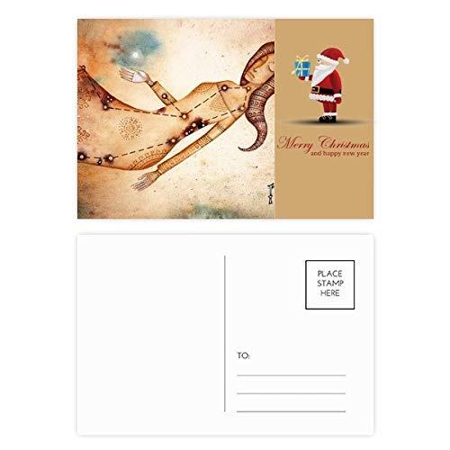 September Augustus Maagd sterrenbeeld Zodiac Kerstman Postkaart Set Thanks Card Mailing 20 stks