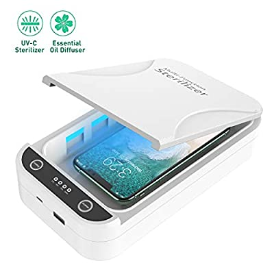 UV Cell Phone Sanitizer, Portable UV Phone Soap Sterilizer, Cell Phone Cleaners Sanitizer Box for iOS Android Smartphones Or More by Horcol