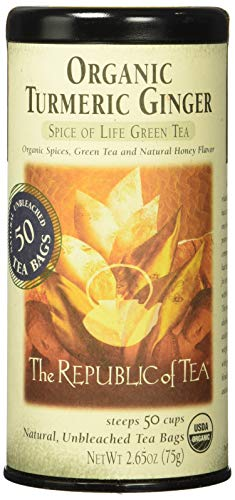 REPUBLIC OF TEA Organic Turmeric Ginger Green Tea, 50 CT