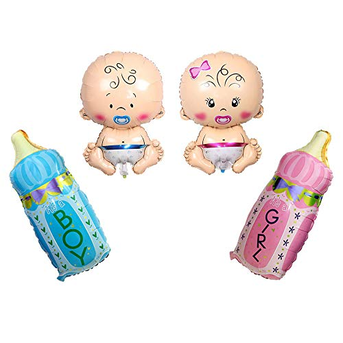 Huture 4PCS Welcome Baby Jumbo Mylar Foil Balloon Boy Girl Shape 27