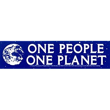 We Belong to The Earth Environmental Small Bumper Sticker or Laptop Decal Peace Resource Project The Earth Does Not Belong to Us 6.75 x 1.75