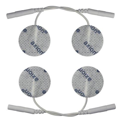 4 runde Elektroden-Pads Ø32mm - EMS-Training und TENS-Schmerztherapie - axion