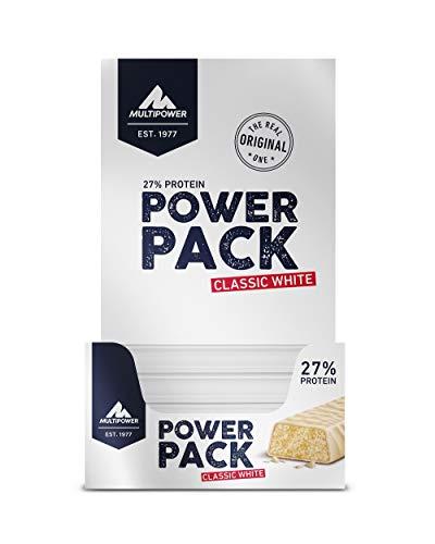Multipower Barretta Proteica Energetica - Power Pack Classic White - 27% Di Proteine - Confezione da 24x35g