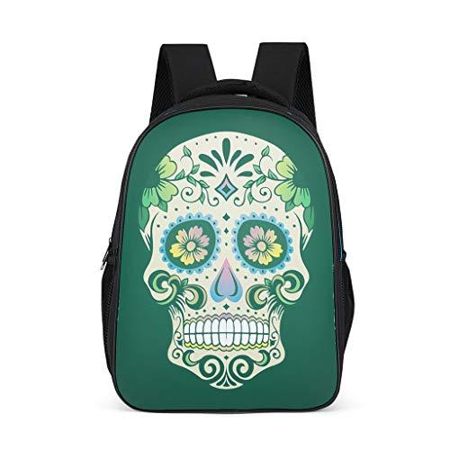 XHJQ88 schedel rugzak mode - speciale slanke duurzame school rugzak schedel behang afdrukken rugzak klasse kamer gebruik voor college student onesize Grijs