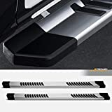 Stehlen 733469494850 6' OE Series With Polymer Stripes Design Aluminum Running Boards - Polish Silver For 2015-2021 Ford F150 / 2017-2021 F250 F350 F450 F550 Superduty SuperCrew (Crew) Cab