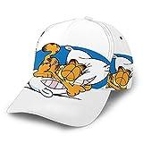 Garfield Anime - Gorra de béisbol de algodón suave para exteriores, tamaño trasero, se puede ajustar, color negro