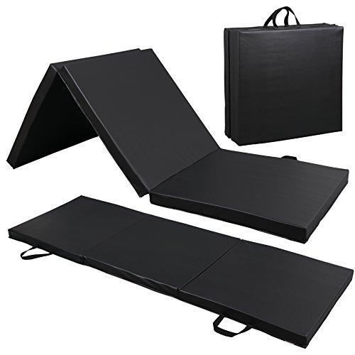 ZENY - Esterilla plegable de 5.9 x 2.0 x 2.0in, para gimnasio, aeróbic, con asas de transporte para equipo de entrenamiento, entrenamiento básico, estiramiento, tumbling, yoga, estera de ejercicio