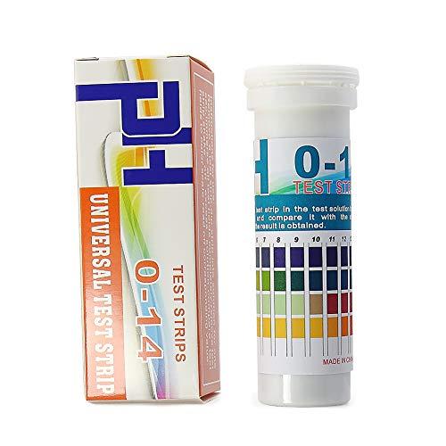 AMTAST Universal pH Teststreifen Papierstreifen 0-14 für Sauren Alkalischen pH-Wert 4 Farben (150 Streifen)
