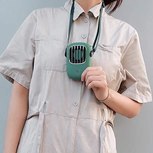 Doupal Tragbarer Ventilator, Mini USB Ventilator Handsfree, Wiederaufladbarer Ventilator, Schreibtisch Ventilator, Ventilator Mit Band zum Umhängen, 3 Stufen