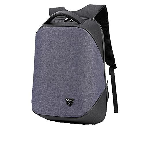 PINKPEGASUS Nuevos hombres multifuncional negocio antirrobo bolsa de computadora mochila de viaje al aire libre USB carga hombres bolsa universitario estudiante escolar azul