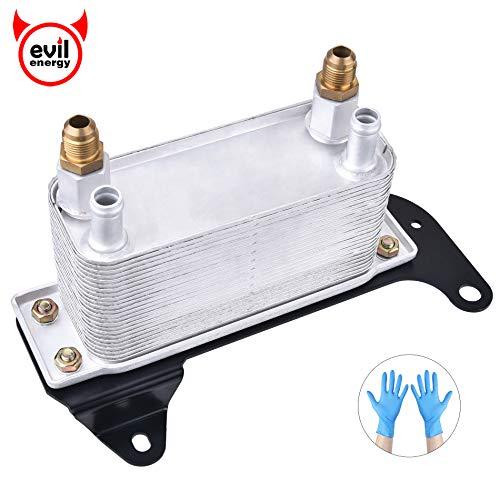 EVIL ENERGY Transmission Torque Converter Oil Cooler Compatible with 2003-2009 Dodge Ram 2500 3500 5.9L L6 Diesel 68004317AA 5086946AA Steel Bracket