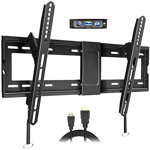 Fozimoa Tilt TV Wall Mount Bracket for Most 32-86 Inch LED, LCD, OLED, Plasma Flat Curved Screen TVs with vesa 600x400mm and Holds up to 165lbs, Low Profile and Space Saving, Fits 8',16',18',24'Studs