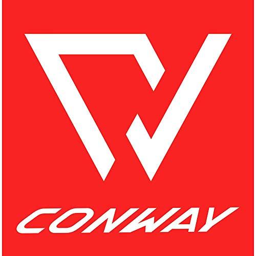 CONWAY Aufkleber Logo Sticker 9,8x9,8cm wetterfester rot weiß Fahrrad