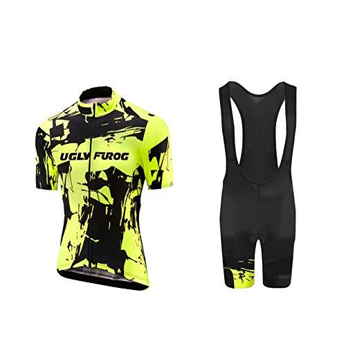Uglyfrog Fahrradbekleidung Frauen Trikot + Kurze Radlerhose 3D Gel Gepolstert