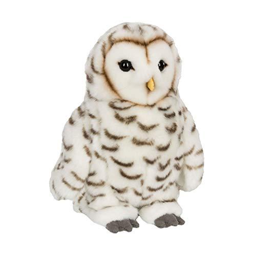 WWF WWF00039 Plüsch Schneeeule, realistisch gestaltetes Plüschtier, ca. 22 cm groß und wunderbar weich