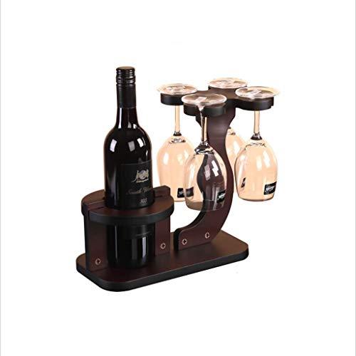 COOLSHOPY Estante del Vino, Vino cáliz Rack revés Inicio del Vino Estante de exhibición Adornos de decoración de Madera sólida Creativo Europea