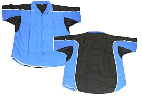 Lisaro Darthemd/Bowlinghemd blau-schwarz (5XL)
