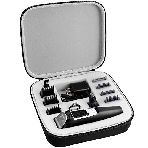 Hard Case Compatible with Philips Norelco MG3750 Multigroom All-In-One Series 3000 Men s Electric Beard Trimmer Shaver. Clipper Storage Holder Fits for 13 Attachment Trimmer and Accessories (Box Only)