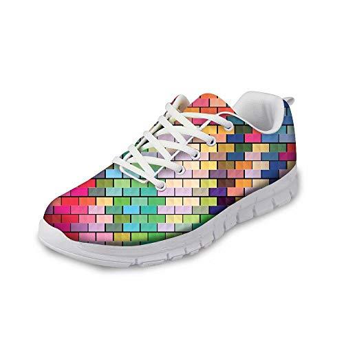 MODEGA Bunte Schuhe Plaid Turnschuhe Kinderschuhe Frauen Racquetball Schuhe Plus Größe Tennisschuhe billig kühlen Turnschuhe Schule Schuhe für Frauen und Größe 45 EU|9.5 UK