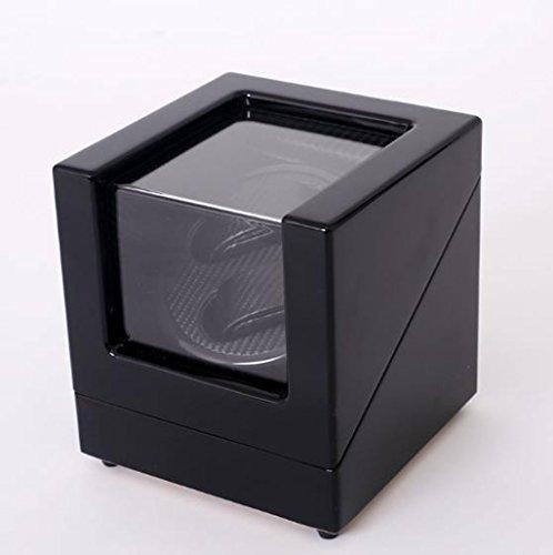 Caja Giratoria para Relojes Devanadera de reloj automática de lujo Winder de reloj automático, de lujo Watch Winder Cases 2 De almacenamiento de cuero de visualización de reloj Winder Box Automatic Ro