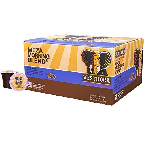 Westrock Coffee Company, Meza Morning Blend, Single Serve Coffee Cup, Medium Roast, 80 Count