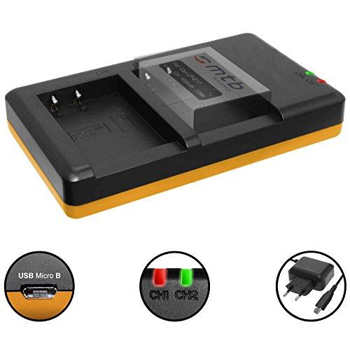 Cargador Doble (Corriente, USB) para Canon LP-E17 / EOS 77D, 200D, 750D, 760D, 800D / EOS M3, M5, M6 / Fuente de alimentación Incluido