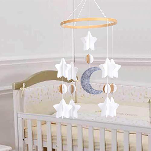 Baby windspiel Krippe 3D Mond Sterne Mobile Babybett fühlte Sich hängende Spiel Mobile für Kleinkinder Kinder Bett Dekor