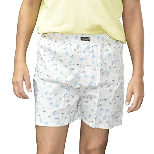 The Cotton Company Men's Cotton Boxers (Pack of 3) (Boxers013_M_Plane_P3_M_Multicolor_Medium)