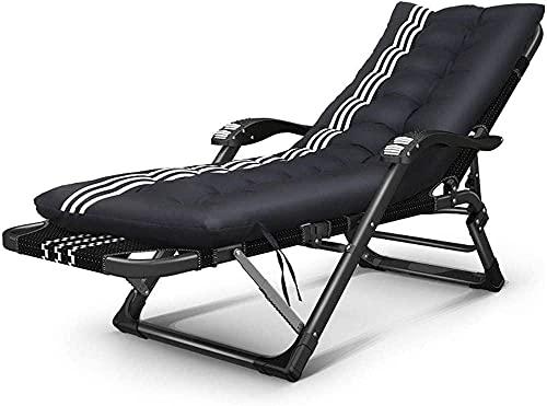 Tumbona de 180 °, reclinable, ajustable, plegable y fácil de transportar, para 4 estaciones, temporada universal (almohadilla opcional) duradera (color: A)-B