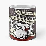 Monty Python Holy Grail Caerbannog Killer Rabbit - Best Gift Coffee Mugs 11 Oz Father Day