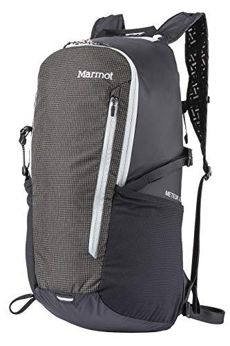 Marmot Ultraleichter Wanderrucksack, Daypack, Faltbar, 22 L Fassungsvermögen, Wiegt Nur 570 G Kompressor Meteor 22, Black/Slate Grey, 22 l, 38770