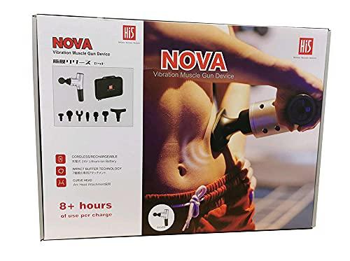 NOVA 筋膜リリースセット(SILVER) アタッチメント7種付属セット Hi5 Vibration Muscle Gun Device シルバー