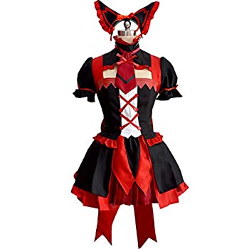 MYYH Anime Rory Mercury Cosplay Black Red Gothic Lolita Dress Gloves Stockings Costume