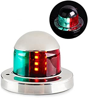 LEANINGTECH Boat Marine LED Navigation Lights Marine Navigation Lamp, SS316 Stainless Steel Shell, IP66 Red and Green LED for Boat Pontoon Yacht Skeeter, 10.5LM with CE & RoHS Certificate