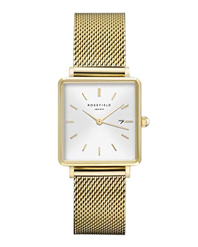 Rosefield Women's Year-Round Quartz Watch with Stainless Steel Strap, Gold, 16 (Model: QWSG-Q03)