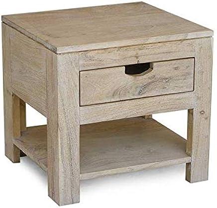 Exqui Table De Chevet Avec Etagere Et Tiroir Blanc Table De